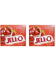 Pack of 2, Jell-O Strawberry Jelly Gelatin Powder 170 g, 8 Servings per Box. Great for Summer Cold Drinks and Beverages Preparation, Fruit Gelatin Servings, Dessert Mix