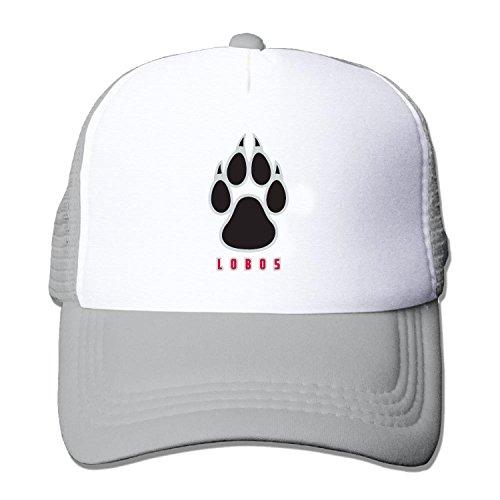 Unisex mesh baseball cap New Mexico Lobos crap Trucker Hat (5 colours)
