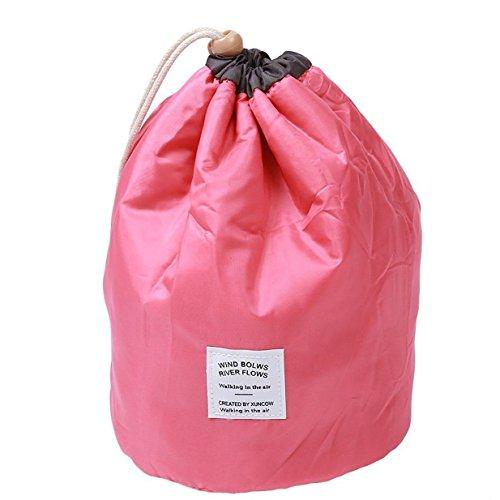 Lalang 3 Stück Tragbare Kulturbeutel Kosmetikum Aufbewahrungstasche leichte Reise Organizer-Taschen mit Kordelzug - ideal als Koffer-Organizer (azurblau) wassermelone rot
