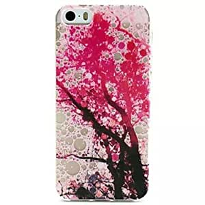 QHY Plum Blossom Pattern TPU Soft Cover for iPhone 5/5S