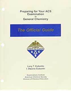 Preparing for your acs examination in general chemistry the preparing for your acs examination in general chemistry the official guide by lucy t fandeluxe Image collections