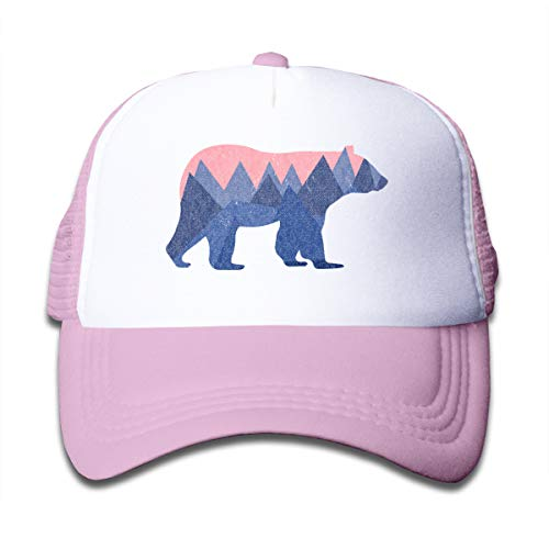Waldeal Bear Mountain Youth Toddler Mesh Hats Boy and Girls Baseball Trucker Caps Pink