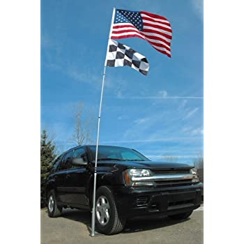 Flagpole To Go Ultimate Tailgaters Package With 20-Foot Portable Flagpole