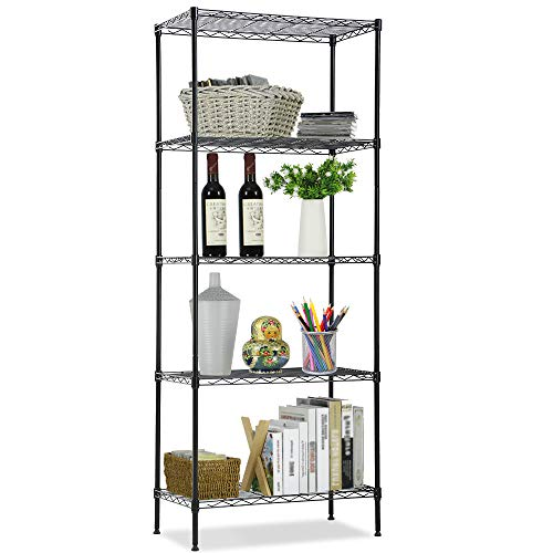 - Wire Shelving Unit, NSF 5-Tier Layer Shelf Utility Steel Commercial Grade Storage Shelves 24