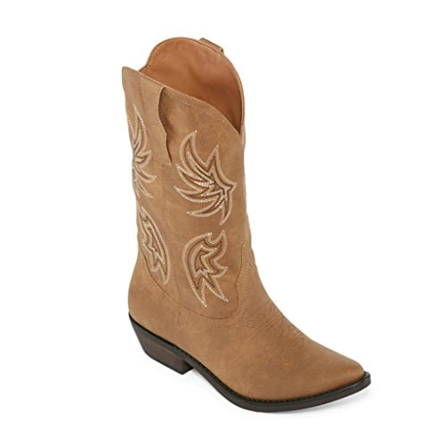 Arizona Jean Selskap Dewey Cowboy Tan Womens Boots 6,5 M