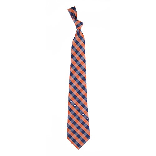 Eagles Wings NFL Denver Broncos Men's Woven Polyester Check Necktie, One Size, Multicolor