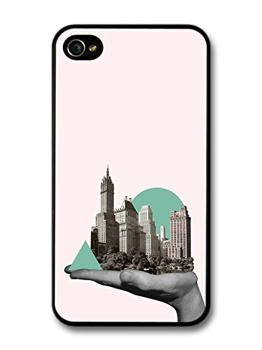 City in a Hand Photo Collage with Cool Hipster Shapes case for iPhone 4 4S