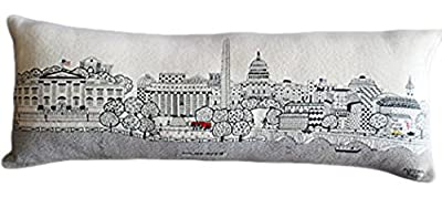 Beyond cushions Washington D.C. Embroidered Skyline Cushion Cover, Day Time, Queen Size