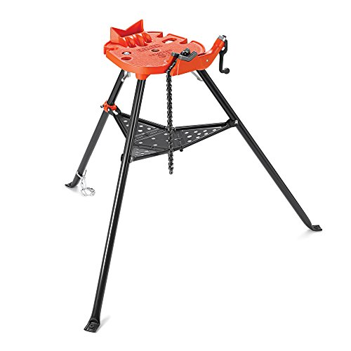 - RIDGID 36273 Model 460-6 Portable TRISTAND Chain Vise, 1/8-inch to 6-inch Pipe Vise