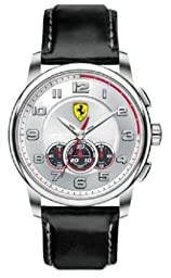 Ferrari Men\'s 830057 Analog Display Japanese Quartz Black Watch