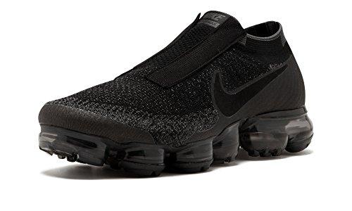 aa2452e622c54a Nike Air Vapormax Flyknit SE Laceless - Black Black-Dark Grey Trainer Size  8 UK  Amazon.co.uk  Shoes   Bags