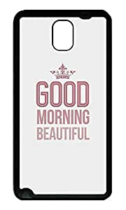 Note 3 Case, Galaxy Note 3 Case, [Perfect Fit] Soft TPU Crystal Clear [Scratch Resistant] Good Morning Beautiful Ideas Back Case Cover for Samsung Galaxy Note 3 N9000 Cases