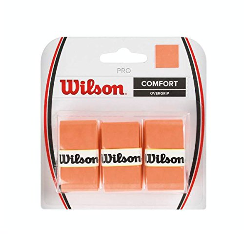 Wilson Tennis Racquet Pro Over Grip, Orange, Pack of 3