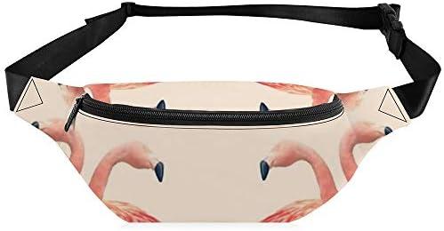 デコフラミンゴ ウエストバッグ ショルダーバッグチェストバッグ ヒップバッグ 多機能 防水 軽量 スポーツアウトドアクロスボディバッグユニセックスピクニック小旅行