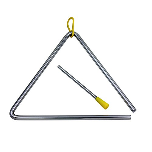 WINGONEER Musical Steel Triangle with Striker - 7 inch