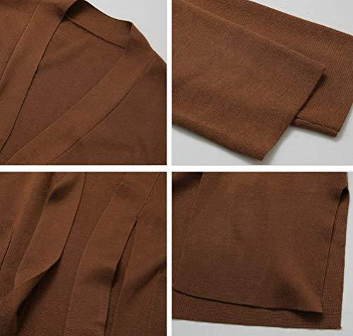 Unique Aperto Outerwear Braun Forcella Primaverile Stlie Lunga ZwqAUwx6