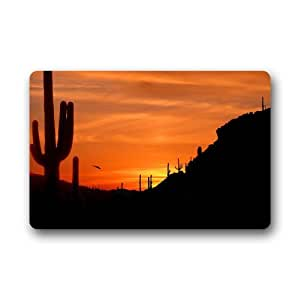 "CozyBath Cactus Non-woven Fabric 23.6""(L) x 15.7""(W)Machine-washable Indoor/Outdoor/Shower/Bathroom Doormat"