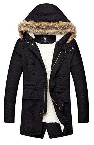NITAGUT-Mens-Hooded-Faux-Fur-Lined-Warm-Coats-Outwear-Winter-Jackets
