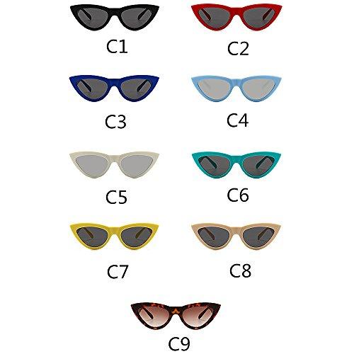 air UV Hommes pour Plein Vacances de Soleil Lunettes de Brillants rétro en Protection Conduite Couleur Designer pour la Nuances KOMEISHO C3 C2 nouveauté Triangle Femmes Petites 6wfw7q