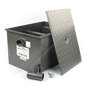 Wentworth 30 pound grease trap interceptor 15 for Kitchen grease trap