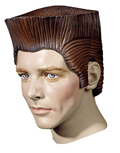 (UHC Adult Crewcut Sideburns Rubber Latex Wig Halloween Costume)