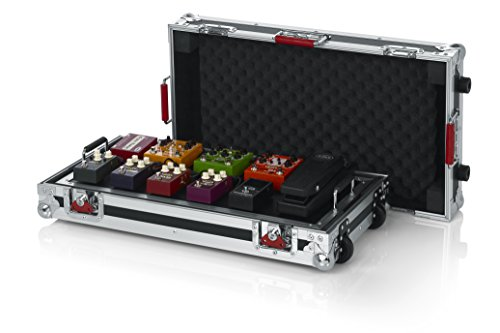 (Gator Cases G-TOUR Series Gutiar Pedal board with ATA Road Case, Wheels and Pull Handle; Large: 24