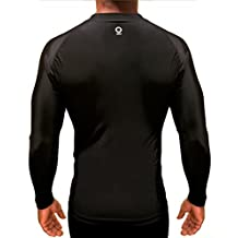 Optimal Human 20% Off Black Friday Long Sleeve Compression Shirt w/Under-Arm Mesh Cooling Panels | BJJ No-Gi Rash Guard | MMA | WOD Crossfit | Running | Basketball | Football | Gym Workout