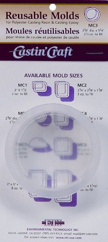 Environmental Technology 2-3/8-Inch by Dia by 1-1/8-Inch Castin' Craft Carded Poly Mold, MC-3
