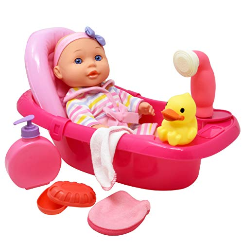 "Baby Doll Bathtub - Tub Set Featuring 12"" All Vinyl Doll, Ba"