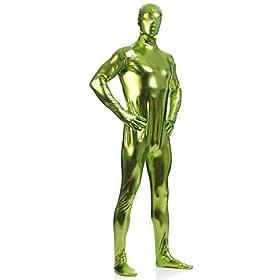 - 41qjBCWgaiL - Ensnovo Mens Shiny Metallic Zentai One Piece Spandex Skin Suits Costume