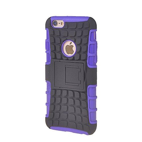iPhone 6 Plus Fundas,COOLKE [Naranja] Duro resistente Choque Heavy Duty Case Hybrid Outdoor Cover case Bumper Para Apple iPhone 6 Plus (5.5 inch) púrpura