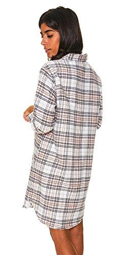 U.S. Polo Assn.. Womens Button Front Long Sleeve Cotton Pajama Sleep/Night Shirt White Large by U.S. Polo Assn. (Image #2)