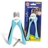 DakPets Dog Nail Clippers and Trimmer - Razor Sharp Blades, Safety Guard to Avoid Overcutting, Free Nail File - Start Professional & Safe Pet Grooming at Home