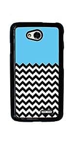 Chevron Pattern V shapes Hard Case for LG Optimus L70 ( Sugar Skull ) by ruishername