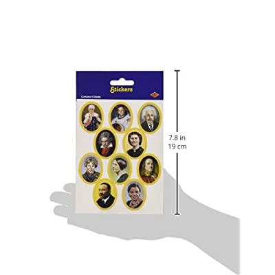Faces In History Stickers   (4 Shs/Pkg): Kitchen & Dining