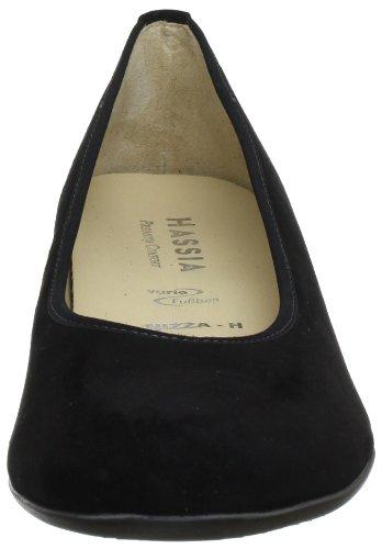 Hassia Women's Nizza, Weite H Ballet Flats Black - Schwarz (Schwarz 0100)