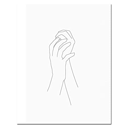 Affiche Impressions Croquis Mur Art Ligne Dessin Imprimer