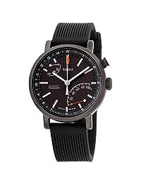 Timex Metropolitan+ TW2P82300 - Reloj de pulsera unisex con esfera negra y correa de silicona