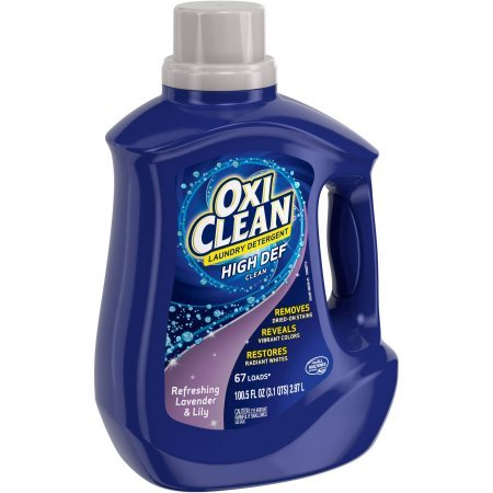 PACK OF 4 - Oxiclean Refreshing Lavender & Lily High Def Clean Liquid Laundry Detergent, 100.5 fl ()