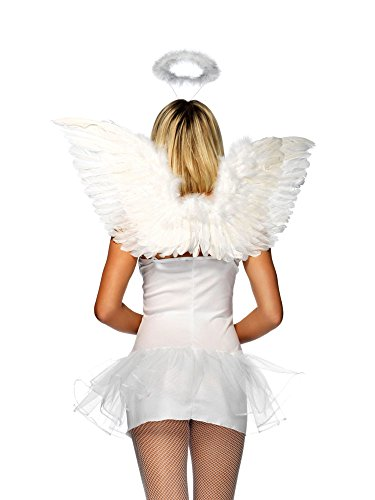 Forum Novelties White Marabou Halo Costume -