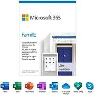 Microsoft 365 Famille | Abonnement de 12 mois, jusqu'à 6 utilisateurs | Applications Office de première qualit