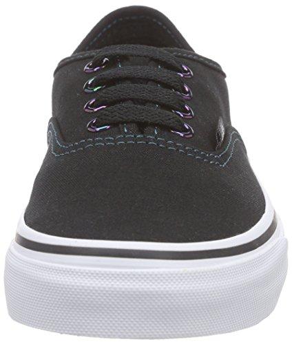 Vans K Authentic Unisex-Kinder Sneakers Schwarz ((Iridescent Eyelets) black/multi)