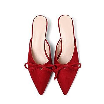 Bien en primavera y verano con el encabezado con la punta de un gran número de sandalias de mujer JINGERMEI