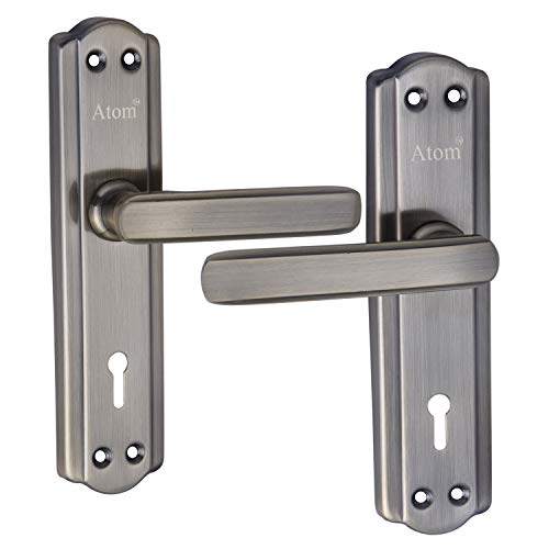 Atom 7 inches Mortise Door Handle Set with Lock Body | Brass Antique Finish | 3 Keys | 6 Lever Double Stage Lockset for…