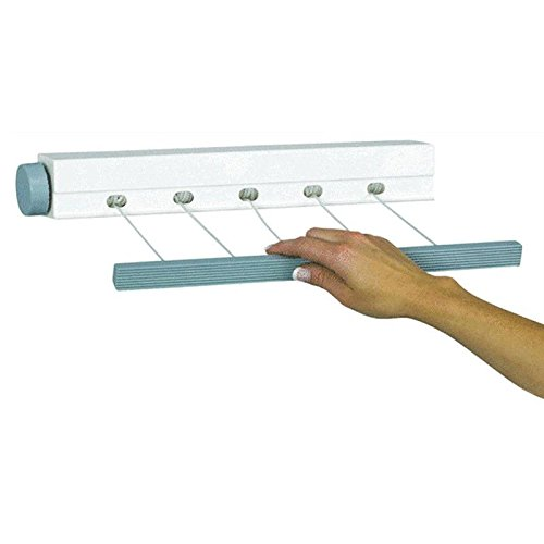 Outdoor Indoor Retractable 5 Line Clothesline Laundry Dryer Clothes Drying Rack