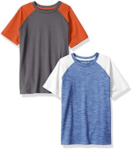 Amazon Essentials Boys Active Performance Short-Sleeve T-Shirts