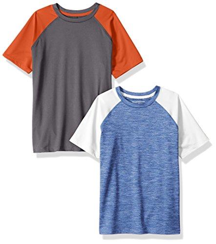 Amazon Essentials Little Boys' 2-Pack Short-Sleeve Raglan Ac