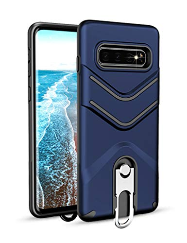 Galaxy S10+ Case KumWum Kickstand Series Polycarbonate with TPU Dual Layer Heavy Duty Shock Absorbent Drop...