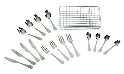 Childrens Toy Dishes - Melissa & Doug Stainless Steel Mealtime Utensil Set - Dishwasher-Safe Play Kitchen Accessories