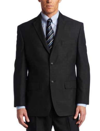 discount Haggar Men's Big And Tall Tonal Windowpane 2 Button Suit Separate Coat for sale